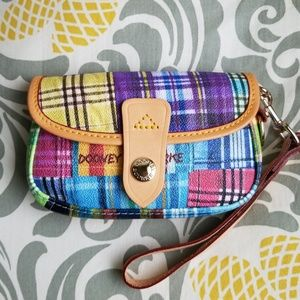 Dooney and Bourke Colorful Plaid Wristlet